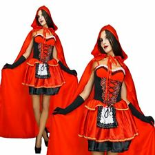 Womens Little Miss Red Riding Hood Fairy Tale Storybook Fancy Dress Costume