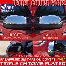 2007-2013 Chevy Silverado 1500 Chrome Mirror COVERS Top Half Overlay Trim Cap