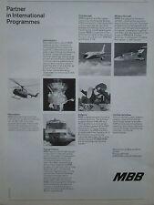 11/76 PUB MBB MESSERSCHMITT PANAVIA AIRBUS SATELLITE HELIOS ROLAND INTERCITY AD