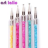 2 Way Nail Art Brush Set Dotting Tools 5pcs Silicone Carving Craft Sculpture Pen