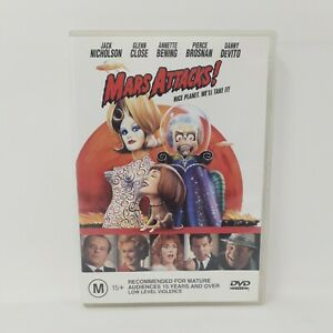 Mars Attacks! - Jack Nicholson - Danny DeVito - Tim Burton - Region 4 DVD