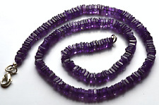"""NATURAL SUPER AFRICAN AMETAHYST SMOOTH SQUARE CHIPS BEADS NECKLACE 3.5 - 4MM 16"""""""