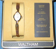 Waltham 17 Jewel Ladies Dress Watch Lady Garrett Gold Tone - FREE SHIPPING