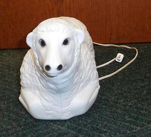 "EMPIRE SHEEP LAMB 18"" BLOW MOLD OUTDOOR CHRISTMAS YARD DECORATION NATIVITY SCENE"