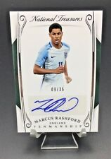 2018 PANINI NATIONAL TREASURES MARCUS RASHFORD MAN UNITED ENGLAND RC AUTO SP /35