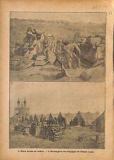 Canon Pièce Lourde Artillerie Bataille de la Somme/Bakery WWI 1917 ILLUSTRATION