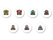 Lot Pack Badge Button Ø38mm Mario Kart Video Game Retro Nintendo