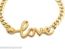 New Love Snake Women Choker Crystal Necklace Earrings Yellow Gold Plated