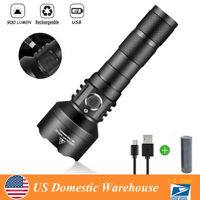 900 Lumens Surper Bright USB Rechargeable T6 LED Tactical Flashlight 18650 Torch