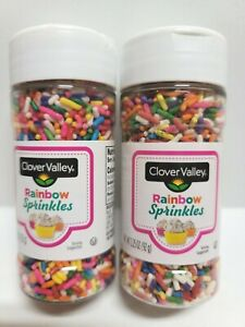 Two 2 Lot Rainbow Spring Sprinkles Candy Cup Cake Decorations Birthday