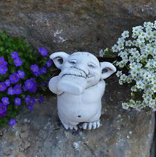 """Massive Steinfigur Troll """"Schnapsnase"""" Gnom Wichtel Kobold Steinguss frostfest"""