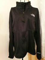 The North Face Mens Size L/G Black zip up Jacket Soft Shell Windstopper coat