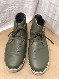 Royal Elastics Mens Shoe Army Green Ankle /Chukka Boots Leather Sz 8.5