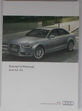 NEW GENUINE AUDI A4 S4 B8 SALOON OWNERS MANUAL HANDBOOK – 11/2013 EDITION