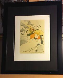 Henri de Toulouse-Lautrec Original Lithographs Printed 1951 Confetti