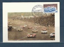 carte  1er jour  automobile  les 24 heures du 72 le Mans  1973