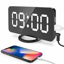 "Digital Alarm Clock, Large 6.5"" Led Easy-Read Night Light Dimmer Display Clock"