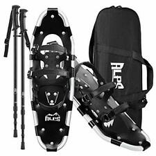ALPS Black Snowshoes 22/25/27/30in with Trekking Pole, Carrying Tote Bag