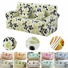1/2/3/4 Seater Stretch Spandex Floral Sofa Couch Covers Rose Slipcover Protector