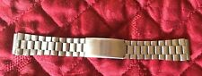 """Unisex Brushed Silver Tone Link Watch Band 6"""" Closed"""