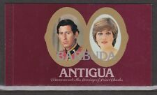 1981 Royal Wedding Charles & Diana MNH Stamps Booklet Opt Barbuda