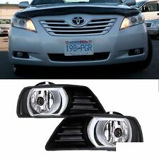 2x For 07-09 Camry Clear Lens Front Bumper Fog Lights+Bulbs+Switch+Wiring