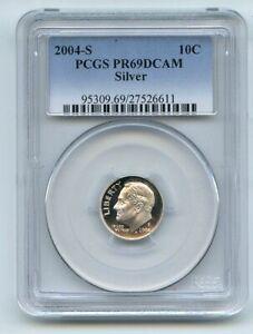 2004 S 10C Silver Roosevelt Dime PCGS PR69DCAM