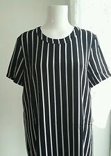 Black and white stripe  mango dress size 12