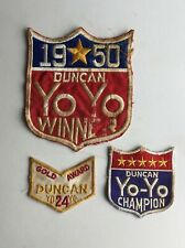 3 Different Duncan Yo-Yo Patches Great Conversation Piece On A Jacket or Levis