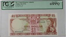 (1974) Fiji Central Monetary Agency 1 Dollar Note SCWPM# 71b PCGS 65 PPQ Gem New