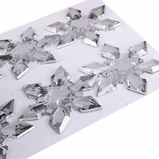 6pcs Self Adhesive Clear 45mm Snowflake Acrylic Gems (CB103)