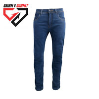 Mens Motorbike Blue Jeans Reinforced Fully Lined with Dupont™ 100%Kevlar® 34x34