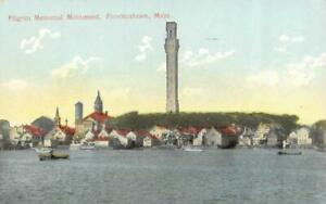 PROVINCETOWN, MA Massachusetts  PILGRIM MEMORIAL MONUMENT & City View Postcard