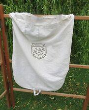 Vintage American Linen laundry washing bag sack .,
