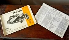 POCHER ORIGINAL RARE BUGATTI TYPE 50 T ASSEMBLY MANUAL