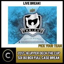 2017-18 UPPER DECK THE CUP 6 BOX FULL CASE BREAK #H161 - PICK YOUR TEAM -