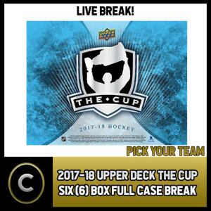 2017-18 UPPER DECK THE CUP HOCKEY 3 BOX HALF CASE BREAK #H1125 - PICK YOUR TEAM