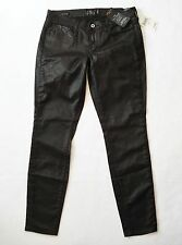 New! LUCKY BRAND Size 8/29 Charlie Super Skinny Jeans Coated Shiny Black Stretch