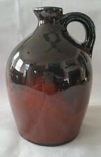 Vintage Moonshine Jug Ceramic Pottery Brown Glazed