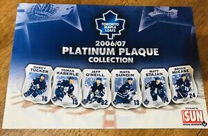 Toronto Maple Leafs 2006/07 Platinum Plaque Collection  Limited Edition