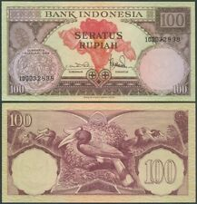 Indonesia 100 Rupiah 1959 UNC, P-69, single letter prefix, scarce