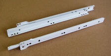 "16"" White Euro Cabinet Drawer Slide Set"