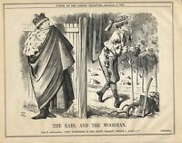 Vintage Punch Political Cartoon September 1876 - Benjamin Disraeli