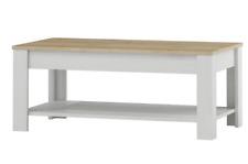 Tavolino da salotto tinta larice bianco e tinta faggio cm L110xH45xP60 Alpen 41