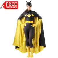 Halloween batman costume batgirl Ladies superhero cosplay bodysuit Zentai Custom