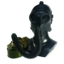 Soviet Russian USSR Gas mask PDF SH Black rubber Hose respiratory protection NEW