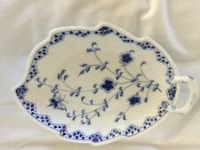 Large Bing & Grondahl Blue Flute  Pattern Leaf Dish #357 Butterflies