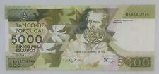 PORTUGAL Portuguese Banknote  5000 Escudos 2 September 1993 UNC