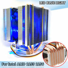 6mm Heat Pipe Aluminium LED CPU Cooler Cool Fan for LAG1156/1155/1150/775 AMD X1