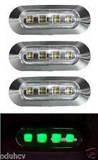 4x 4 LED Seite GRÜN Chrome Einfassung Markierungslicht für Lkw Bus Lastwagen DAF